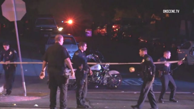 San Diego Police investigate the shooting