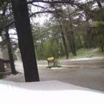 Snow at Mount Laguna Lodge on Monday morning