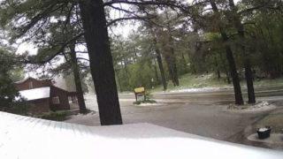 Snow at Mount Laguna Lodge on Monday morning
