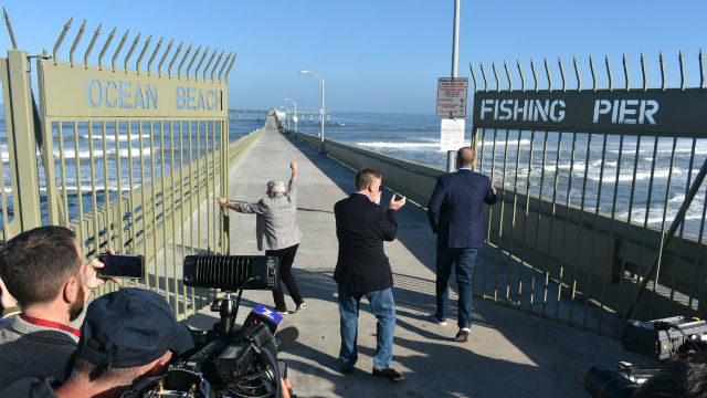 Mayor Kevin Faulconer leads reopening of Ocean Beach Pier