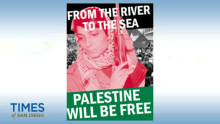 Poster calling for Palestine to be free
