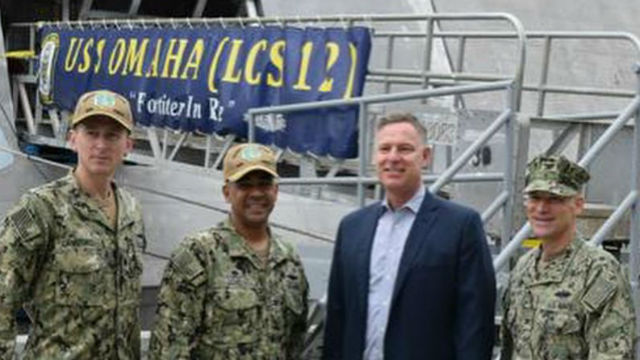 Rep. Scott Peters at Naval Base San Diego