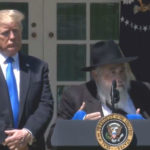 Rabbi Yisroel Goldstein with President Trump