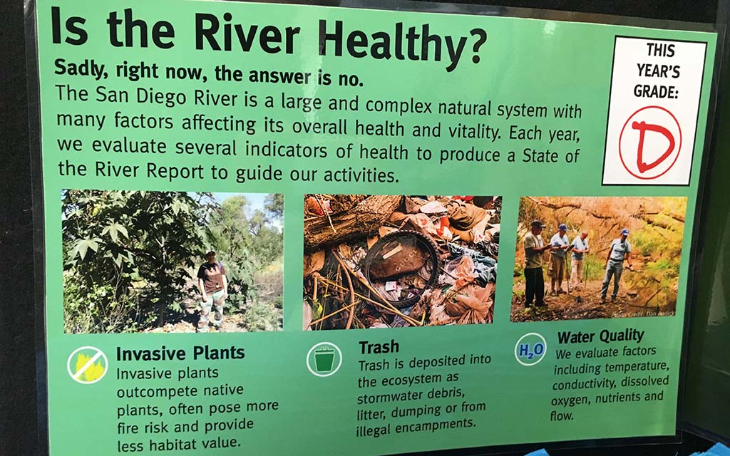 The San Diego River Park Foundation is making people aware of the health of the San Diego River during events on two weekends.