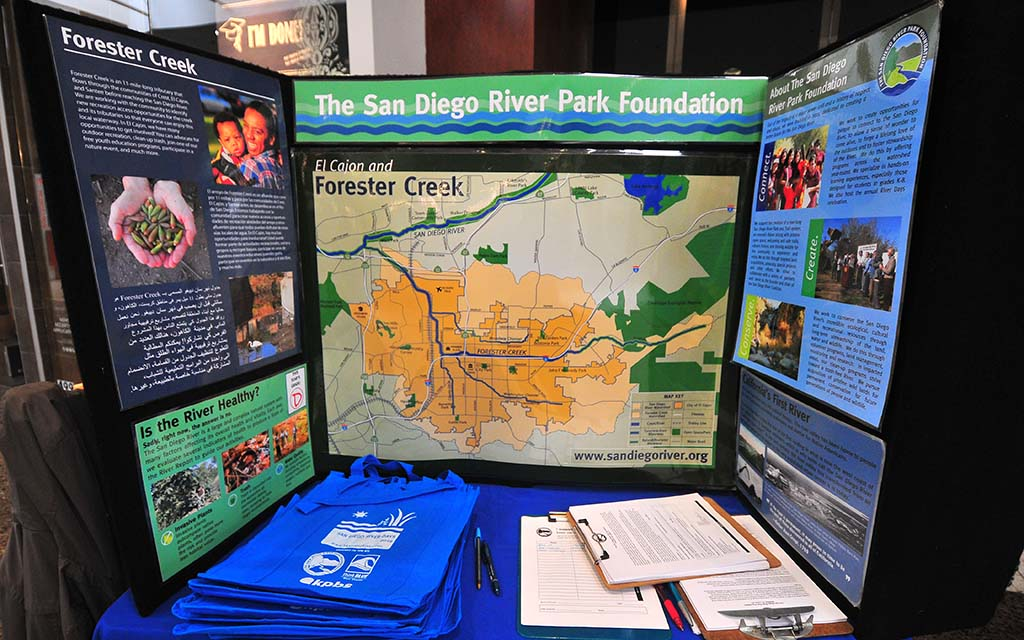 Forester Creek, adjacent to Parkway Plaza, is one of the focuses of concern of concern by the San Diego River Park Foundation.