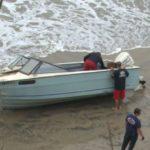 Abandoned smuggler's boat