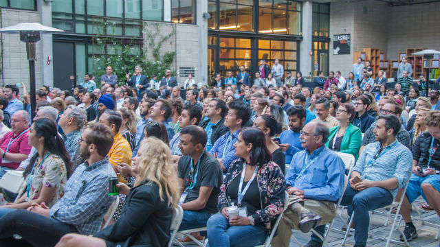A crowd at Startup Week in 2018
