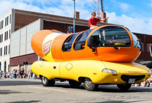 Tim Young on the Wienermobile