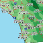 Weekend rainfall forecast