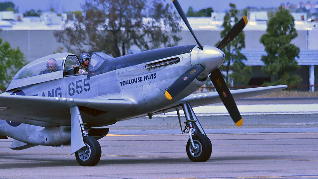 The North American B-51 Mustang served as a fighter-bomber during World War II and the Korean War.