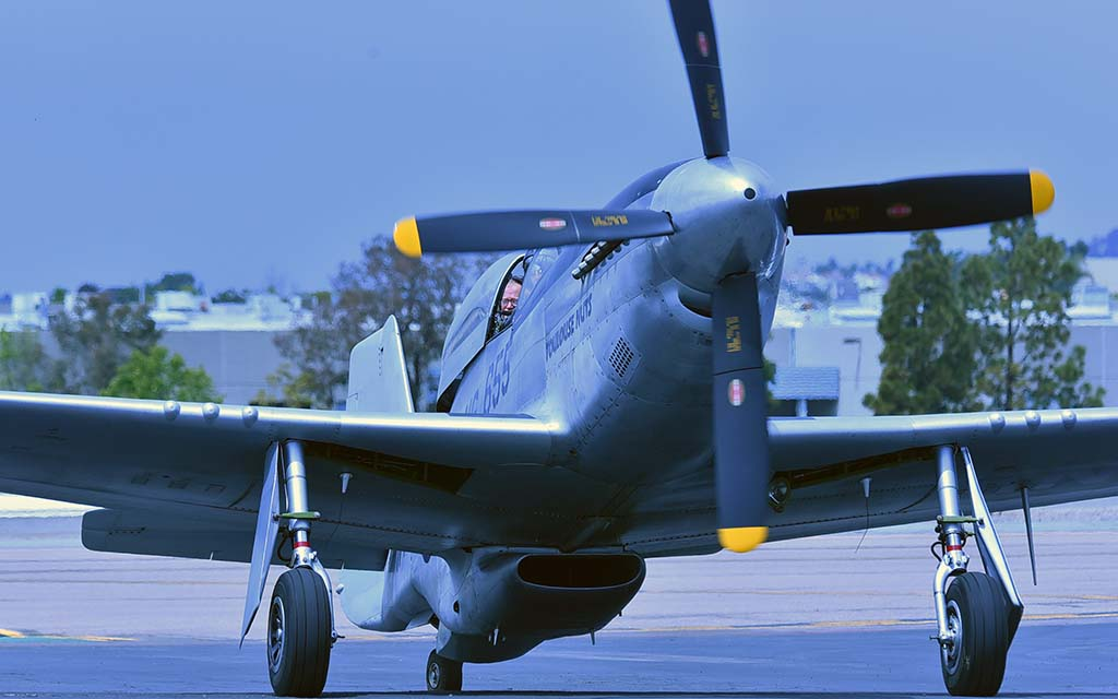 The B-51 Mustang is one of the planes that the public can ride in over the weekend.