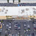El Cajon strip mall where argument and homicide took place.