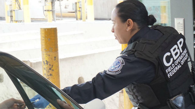 CBP officer at port of entry