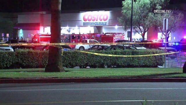 Emergency vehicles outside Costco