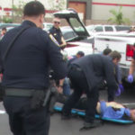 Chula Vista Police assist a shooting victim