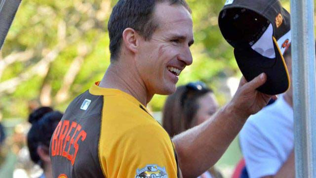 Former Chargers quarterback Drew Brees heard cheers at Petco Park at 2016 All-Star Game event.