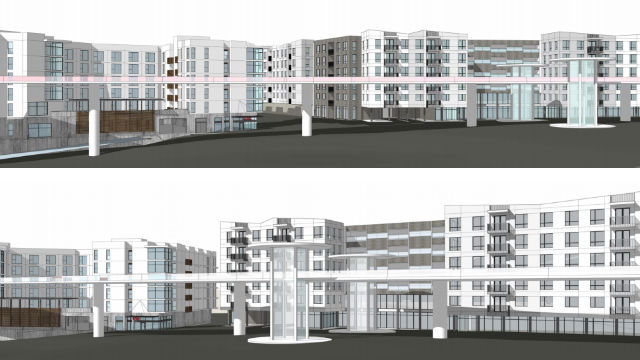 Renderings of affordable and market-rate units