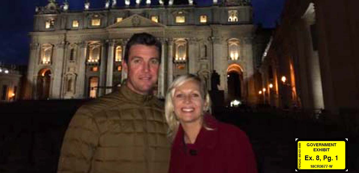 Duncan and Margaret Hunter are shown during November 2015 Italian trip the government says was a family vacation financed by his campaign fund.