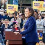 Sen. Kamala Harris at a campaign rally