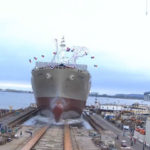 Lurline slides into San Diego Bay