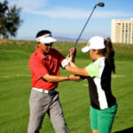 Golf lesson at the Pechanga Resort Casino