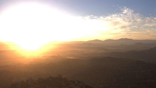 Sunrise in Ramona on Wednesday morning