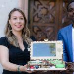 Student innovators Casey Myers and Momo Bertrand