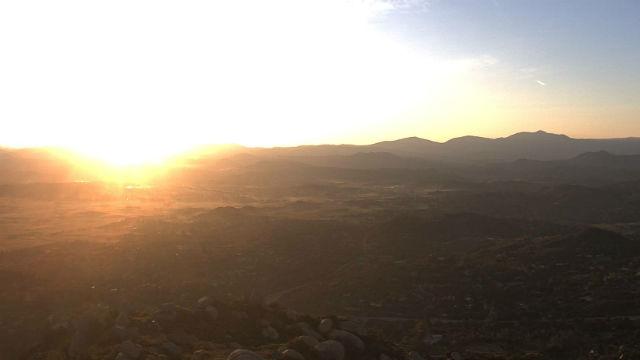 Sunrise in Ramona