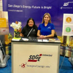 SDG&E employees explain time of use pricing at a community event