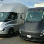 Prototype semi trucks from Tesla