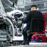 Tesla assembly line in Fremont