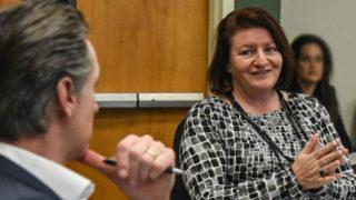 Sent. Toni Atkins meets with Gov. Gavin Newsom