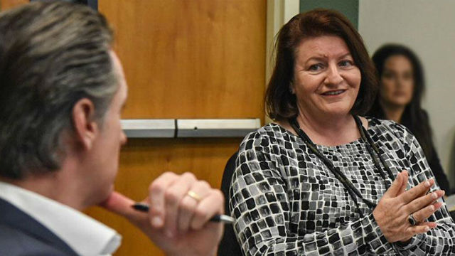 Sent. Toni Atkins meets with Gov. Gavin Newsom