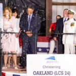 Kate Brandt christens future USS Oakland