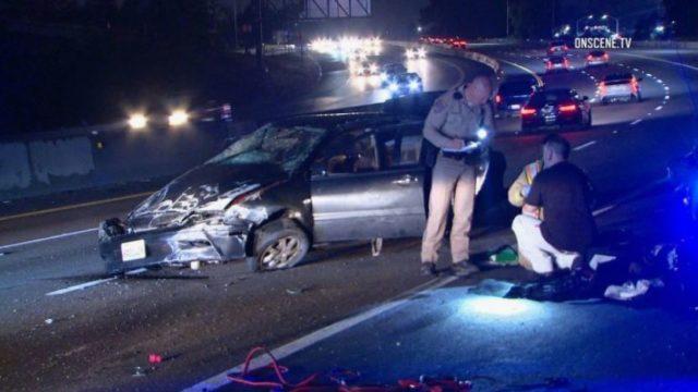 CHP officers investigate crash