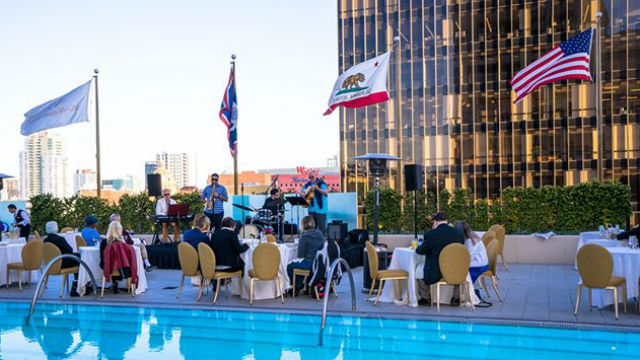 A rooftop event at the Westgate Hotel