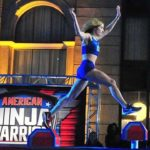"Colleen Barney of Newport Beach eyes one of the challenging Shrinking Steps on ""American Ninja Warrior."""