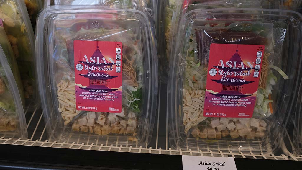 The Market by Vons/Albertsons by the Grandstands offers packaged salads, sandwiches and fruit.