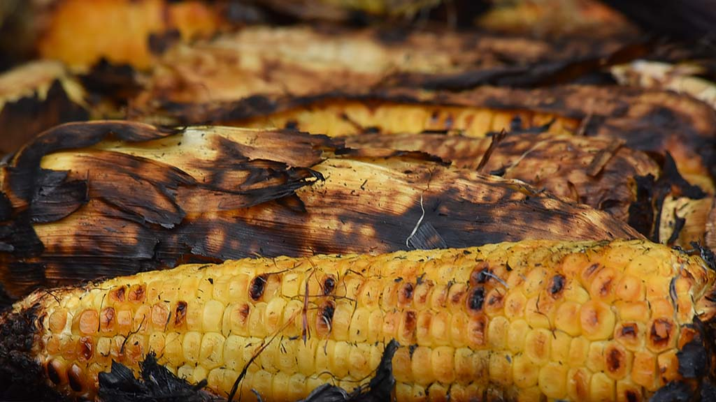 Roasted corn on the cobs is among the most popular healthy foods.
