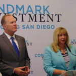 MTS Chair Georgette Gomez, Kevin Faulconer and Kim Becker
