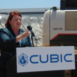 California Senate President Toni Atkins speaks at the groundbreaking