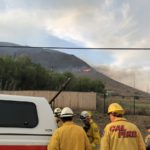 Brush fire Dehesa