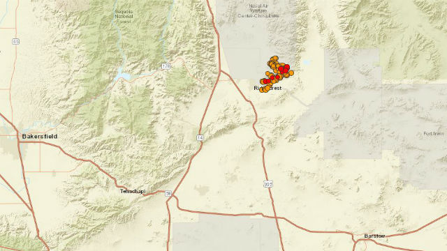 Map shows location of earthquake and aftershocks