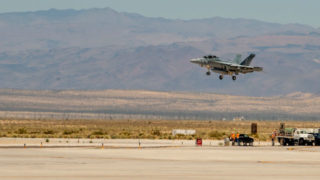 F/A-18 lands at China Lake