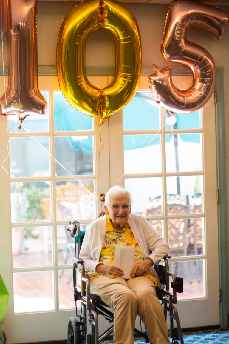 Florence Stuetzer, 105, said staying active is the key to longevity. (Courtesy photo)