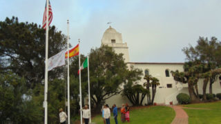 The Kumeyaay flag is raised at the Presidio