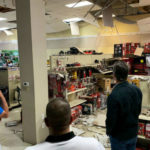 Gov. Gavin Newsom inspects earthquake damage