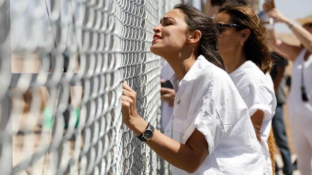 Rep. Alexandria Ocasio-Cortez at the border