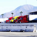 Trucks at the Otay Mesa port of entry