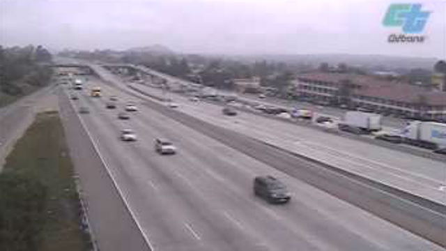 Traffic backed up on northbound Interstate 15